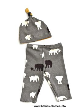 Baby Shower Gift - Organic Elephant Leggings and Knotted Baby Hat. Great for boys and girls! Animal leggings w/ baby cap. Super soft cotton. - http://www.babies-clothes.info/baby-shower-gift-organic-elephant-leggings-and-knotted-baby-hat-great-for-boys-and-girls-animal-leggings-w-baby-cap-super-soft-cotton.html