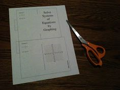 Simplifying Radicals: Solving Systems of Equations: Foldable Booklets