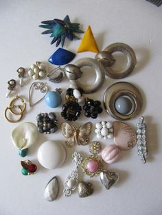 No.48 Lot Jewelry Earrings Craft Scrap Art by ValleyArtSupplies, $3.50
