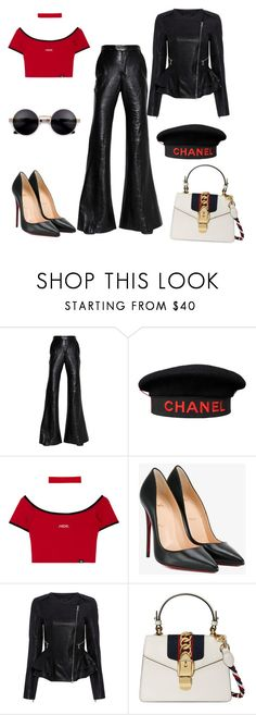 """""""Untitled #1763"""" by dani-gracik on Polyvore featuring E L L E R Y, Chanel, Christian Louboutin, Marissa Webb and Gucci"""