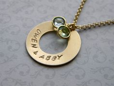 Personalized Mother's Necklace Swarovski Birthstone by Meant2Bead, $26.00
