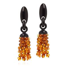 Monies amber ebony earrings