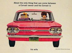 mid century car ad women | 60s car ads | Items similar to 60s Chevrolet Corvair Vintage Ad - 1964 ...
