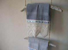 Wall mount towel rackdriftwoodbathroom decortowel di H2ONDE