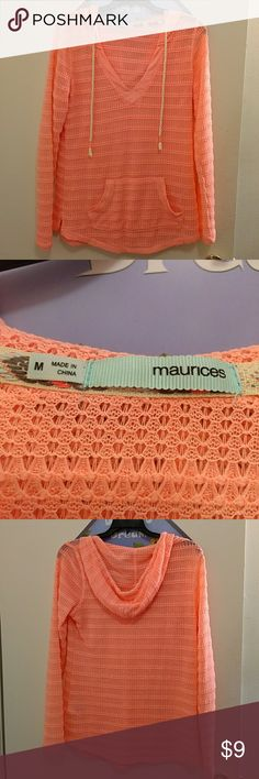 Maurices Hooded Crochet Sweater EUC Maurices Hooded Crochet Sweater EUC Maurices Tops Sweatshirts & Hoodies