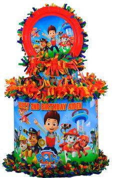 Paw Patrol pull string pinata, featuring Ryder and friends! Paw Patrol Pinata, Paw Patrol Party, Paw Patrol Birthday, Baby Boy First Birthday, Third Birthday, 4th Birthday Parties, Birthday Ideas, Paw Patrol Coloring, Fiesta Theme Party