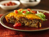 Impossibly Easy Taco Pie Recipe from Betty Crocker- one of our family favorites! Love this stuff!!