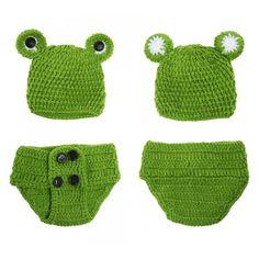 Baby Mädchen häkeln stricken Kostüm Froschkönig Fotografie Prop OutfitsCMGE | Baby, Kleidung, Schuhe & Accessoires, Accessoires | eBay!
