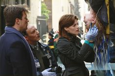 """Stana Katic as Kate Beckett and Nathan Fillion as Richard Castle - Castle 2x07 """"Famous Last Words"""""""