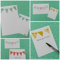 Sewing With Scraps: Notecards - Ellison Lane