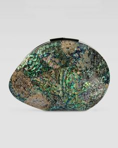 Sirene Shell Minaudiere, Paua Blue by Rafe at Neiman Marcus. If I could afford it, I would buy this for my mother.