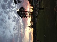 Spring sunset at a college soccer game (Pensacola, Florida)