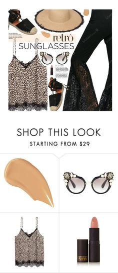 """""""Vintage Love: Retro Sunglasses"""" by beebeely-look ❤ liked on Polyvore featuring NARS Cosmetics, Miu Miu, Lipstick Queen, vintage, Summer, lace, retro, sammydress and RetroSunglasses"""