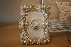 The Busy Broad: DIY Picture Frame Ring Holder. I want this, I am terrified to lose it every time I take the ring off!