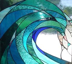 Wave stained glass