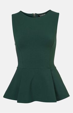 Love this @Topshop emerald peplum tank $36, get it here:  http://rstyle.me/~cary