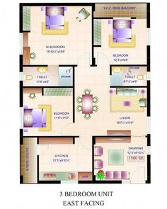 WEST FACING SMALL HOUSE PLAN - Google Search #ModernHomeDecorBedroom