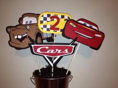 ♥ This piece is a perfect decoration for you table♥ ♥ This listing is for a Disney Pixar Cars Centerpiece picks only ♥ Centerpiece comes with