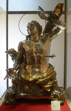 Del Giudice Filippo, San Sebastiano, busto argenteo e rame dorato, cm 125x90, Gallipoli, Lecce, cappella del  Museo Diocesano.