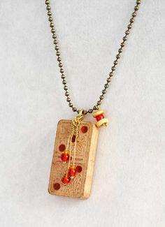 Sharon Parolini: Vintage Domino Necklace - SOLD