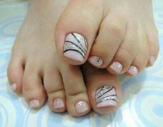 Decoracion De Uñas Delos Pies 20 Diseños Que Debes Hacerte Hoy Mismo Simple Toe Nails, Summer Toe Nails, Cute Toe Nails, Pretty Nails, Toe Nail Color, Toe Nail Art, Nail Colors, Pedicure Designs, Toe Nail Designs