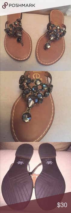Nicole sandal Cute Gemmy sandals like new condition worn one time bronze like snake skin looking straps really cute !!!! Shoes Sandals