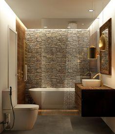 Washroom Design, Rustic Bathroom Designs, Bathroom Design Luxury, Bad Inspiration, Bathroom Inspiration, Home Room Design, Home Interior Design, Small Bathroom Layout, Bathroom Renovations