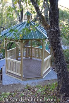 Photo: 10' Dutch Style Unstained Wood Octagon Gazebo with Metal Roof and Cupola--San Anselmo, CA