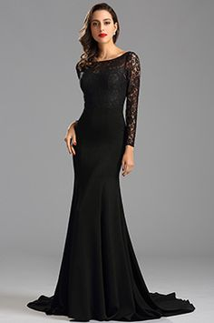 eDressit Long Sleeves lace Bodice Mermaid Prom Evening Dress (26162600)