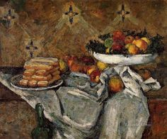 Compotier and Plate of Biscuits Paul Cezanne Oil Paintings