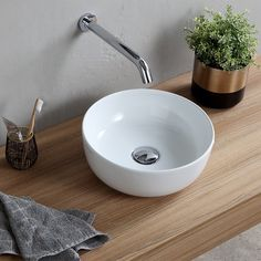 Buy the Nameeks Scarabeo Hole White / No Hole Direct. Shop for the Nameeks Scarabeo Hole White / No Hole Scarabeo Glam Circular Ceramic Vessel Bathroom Sink and save. Drop In Bathroom Sinks, Master Bathroom, Bathroom Island, Barn Bathroom, Pool Bathroom, Bathroom Faucets, Space Saving Bathroom, Lavabo Design, Lavatory Sink