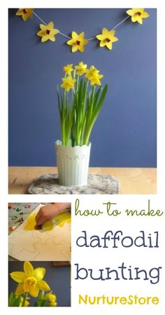 Such a pretty spring craft :: daffodil craft for kids :: St. David's Day craft