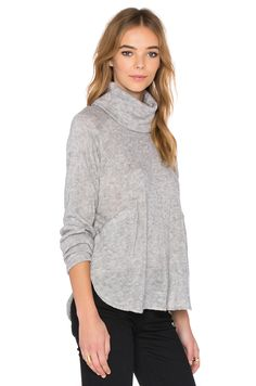 Shades of Grey by Micah Cohen Turtleneck in Heather Grey | REVOLVE