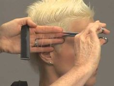 Vivienne Mackinder demonstrates the latest techniques to create short style haircuts