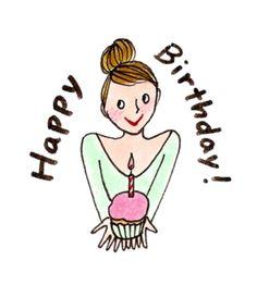 Carte Danniversaire Kanako Awesome Kanako My Little Paris Ka Birthday Cheers, Birthday Wishes Cards, Happy Birthday Greetings, Birthday Messages, Birthday Images, It's Your Birthday, Paris Illustration, Cute Illustration, Birthday Girl Quotes