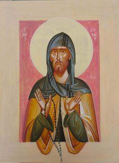 Ephraim the Syrian Religious Icons, Religious Art, Byzantine Icons, Hail Mary, Art Icon, Orthodox Icons, Sacred Art, Christianity, Modern Art