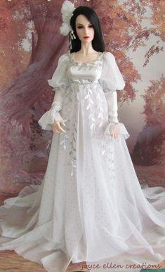 1/3 BJD Eid 65CM fashion OOAK  white & silver fantasy gown hand made by JEC #JoyceEllenCreations