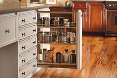 Fieldstone Cabinetry Base Pull Out Filler Storage