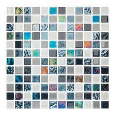 Mozaika szklana Relief blue 30 cm x 30 cm