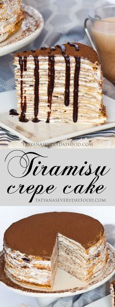 If you love Tiramsiu and crepes, you're going to love my 'Tiramisu Crepe Cake'! I make this cake with delicate, coffee-flavored crepes and fill it with a fluffy whipped cream frosting. View Recipe Link MY LATEST VIDEOS Tiramisu Crepe Cake Recipe, Tiramisu Dessert, Tiramisu Cheesecake, Tiramisu Pancakes, Pumpkin Cheesecake, Food Cakes, Cupcake Cakes, Cupcakes, Cake Fondant