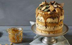 Caramel Peppermint Crisp Mousse Cake
