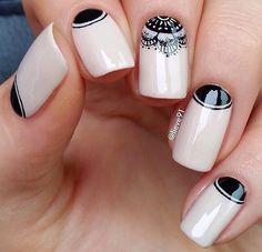 80 Winter Black And White Nail Art Designs - Box Fashions Nail Art Designs 2016, White Nail Designs, Beautiful Nail Designs, Cool Nail Designs, Pretty Designs, Beautiful Images, Black And White Nail Art, White Nails, White Manicure