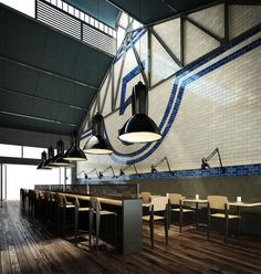Shed 5 restaurant by Loop Creative, Melbourne store design