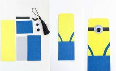 Minion Party, Easy Projects, Bookmarks, Outdoor Decor, Gifts, Bookmark Ideas, School Ideas, Ms, Gift Ideas