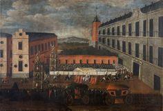 MADRID, 1690: Entrada de la Reina Mariana del Palatinado-Neoburgo en el Real Alcázar de Madrid.