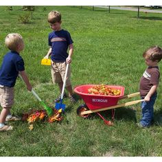 Child's Wheelbarrow And Garden Tool Set