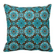 Teal Tile Pillow Blue Bedding, Teal, Throw Pillows, Inspiration, Thoughts, Group, Biblical Inspiration, Toss Pillows, Cushions