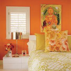 Happy Home: We've got an orange crush paint colour tips