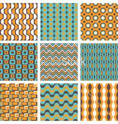 Retro patterns set vector - by dolcevita on VectorStock®