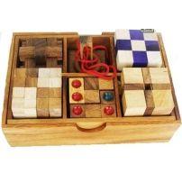 Łamigłówki drewniane – zestaw 6 elementów  #łamigłówka